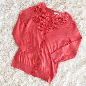 NWT NY&C Coral Flower Cardigan